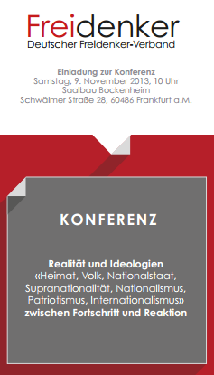 Freidenkerkonferenz, 9.11.2013